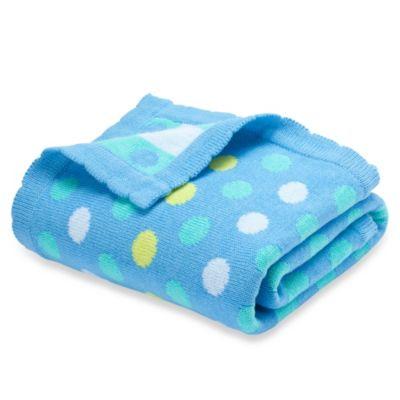 Elegant Baby Bright Dots Blanket in Blueberry