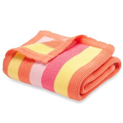Elegant Baby Bright Stripes Blanket in Raspberry