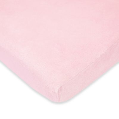 TL Care® Heavenly Soft Chenille Fitted Crib Sheet in Pink