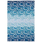 Kaleen Matira Shell Indoor/Outdoor Rug in Blue