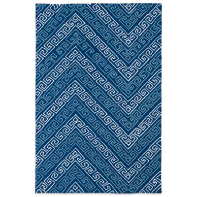 Kaleen Matira Key 7-Foot 6-Inch x 8-Foot Indoor/Outdoor Rug in Blue