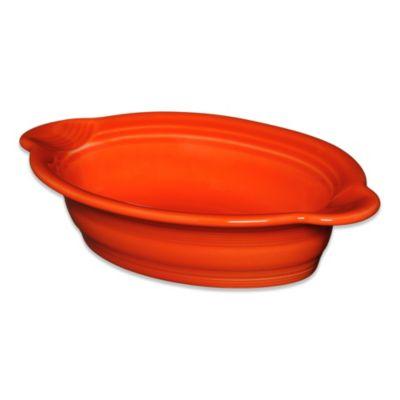 Fiesta® 17 oz. Oval Individual Casserole Dish in Poppy