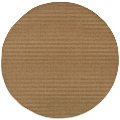 Oriental Weavers Karavia 7-Foot 10-Inch Round Stripe Rug in Brown