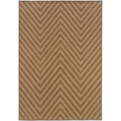 Oriental Weavers Karavia 7-Foot 10-Inch Round Chevron Rug in Brown