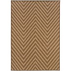 Oriental Weavers Karavia Chevron Rug in Brown