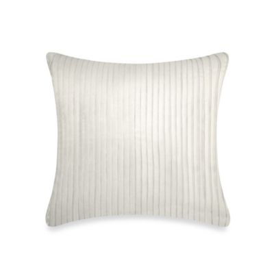 DKNY City Line Square Throw Pillow in Ivory
