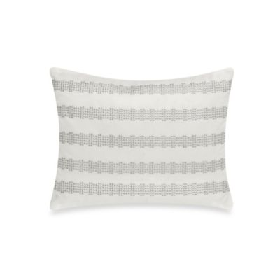 DKNY City Line Oblong Throw Pillow in Ivory