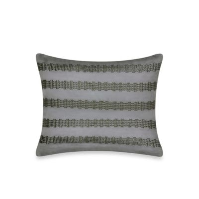 City Line Oblong Throw Pillow in Grey