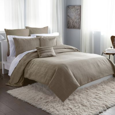 DKNY City Line Twin Duvet Cover in Taupe