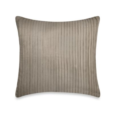 DKNY City Line Square Throw Pillow in Taupe