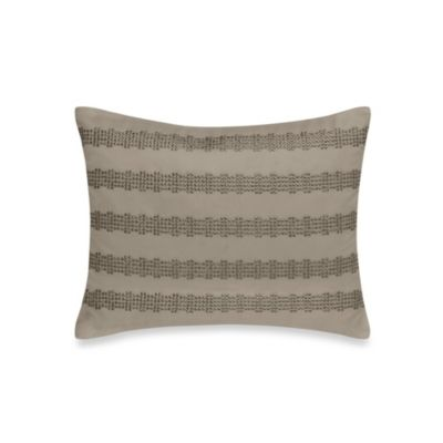 DKNY City Line Oblong Throw Pillow in Taupe
