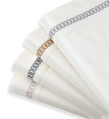 Waterford® Linens Logan Queen Deep Pocket Sheet Set in Platinum