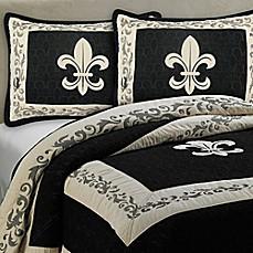 Donna sharp fleur de lis scroll bedding collection bed bath beyond - Fleur de lis comforter ...