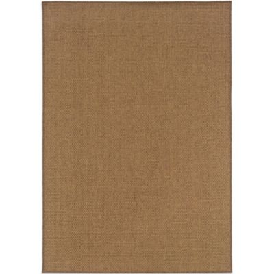 Oriental Weavers Karavia 5-Foot 3-Inch x 7-Foot 6-Inch Dark Basketweave Rug in Brown