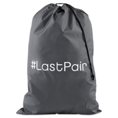 """# LastPair"" Novelty Laundry Bag in Grey"