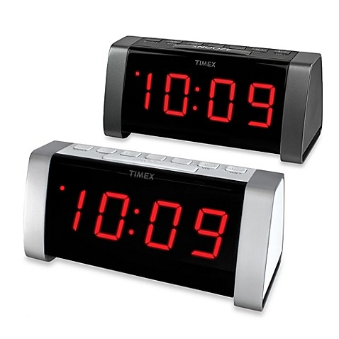 timex am fm jumbo display dual alarm clock radio bed bath beyond. Black Bedroom Furniture Sets. Home Design Ideas