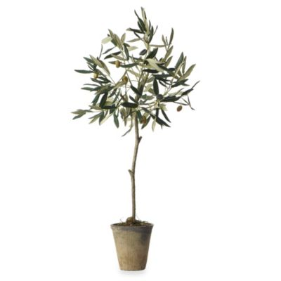Sage Floral Olive Tree in Pot