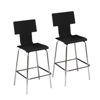 Black Barstool Set