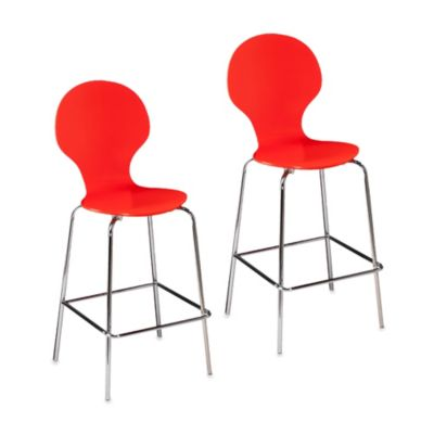 Holly & Martin Conbie Barstool Set in Red (Set of 2)