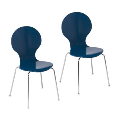 Holly & Martin Conbie Chairs Set in Navy (Set of 2)