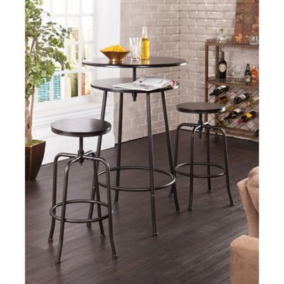 Black Pub Table and Stools