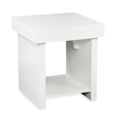 Holly & Martin® Glidick Slide-Top End Table in White