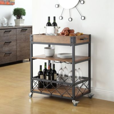 Glass Wine Serving Carts