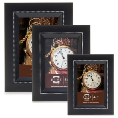 Prinz Bishop 5-Inch x 7-Inch Wood Frame in Black