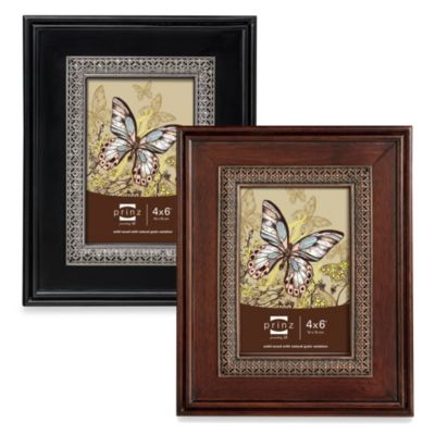 Prinz Chateau 4-Inch x 6-Inch Wood Frame in Dark Walnut