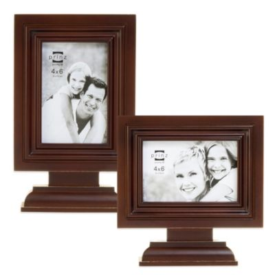 Prinz Dillon 4-Inch x 6-Inch Vertical Wood Frame in Dark Walnut