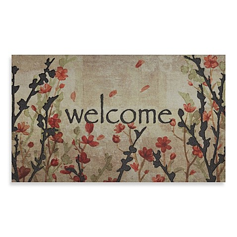 Cherry Blossom Crumb Rubber Door Mat Bed Bath Amp Beyond