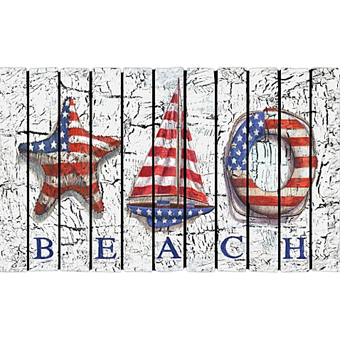 Beach Patriot Door Mat
