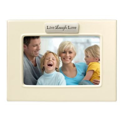 Grasslands Road® Live Laugh Love 4-Inch x 6-Inch Photo Sentiment Frame