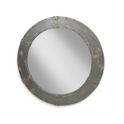 Moe's Home Collection Large Nautic Mirror in Grey