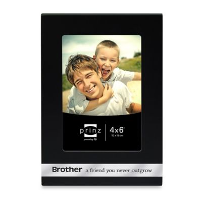 Prinz Sincerely Wood Brother 4-Inch x 6-Inch Picture Frame