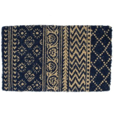 TAG Coir Door Mat in Indigo