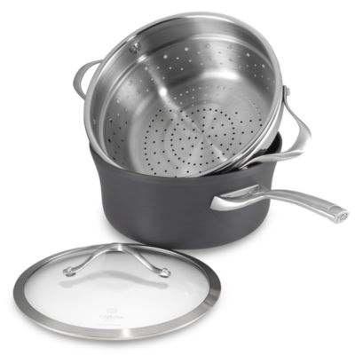 Calphalon® Contemporary Nonstick 4.5-Quart Covered Saucepan with Steamer Insert