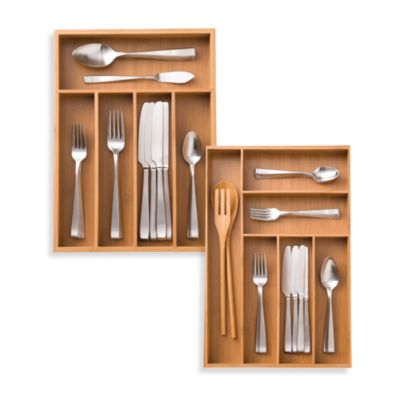 Bamboo Large Cutlery Tray