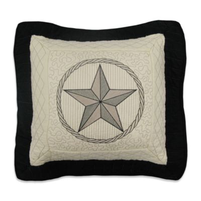 Donna Sharp Texas Pride Square Toss Pillow in Ivory