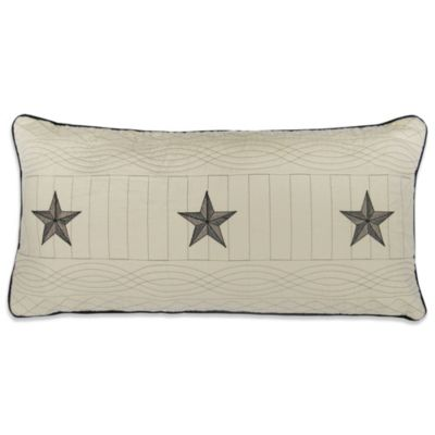 Donna Sharp Texas Pride Oblong Toss Pillow in Ivory