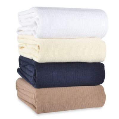 Berkshire Blanket® Comfy Soft Twin Cotton Blanket in White