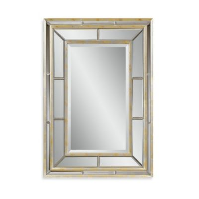 Bassett Mirror Company Tournasol Wall Mirror in Silver Leaf