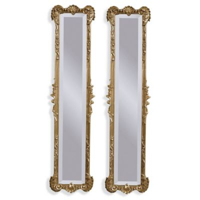 Bassett Mirror Company Helena 2-Panel Mirror in Antique Gold