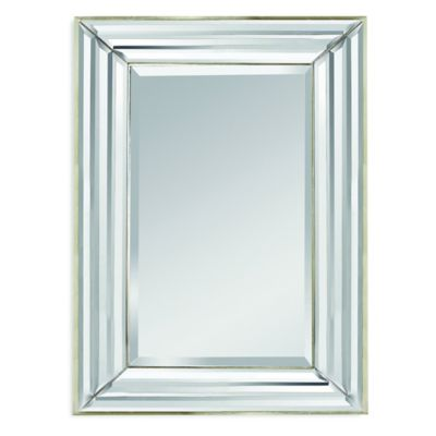 Bassett Mirror Company Jewels Mirror in Silver Leaf