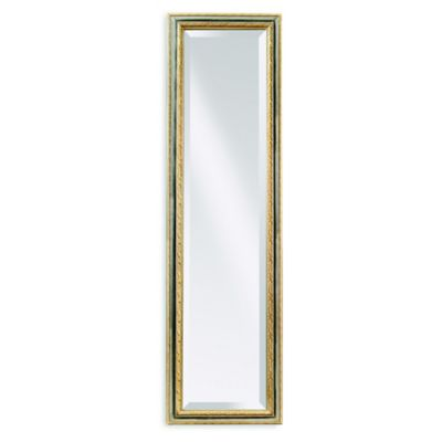 Bassett Mirror Company Regis Cheval Mirror in Silver/Gold