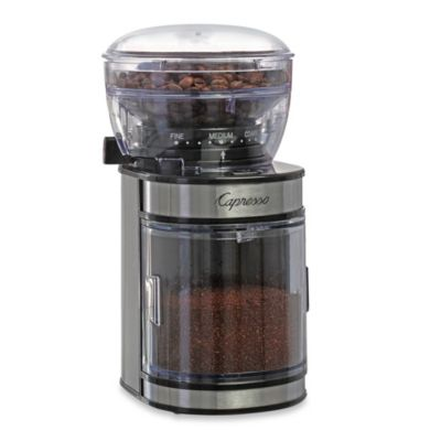 Capresso® Ceramic Burr Grinder with Stainless Steel Housing