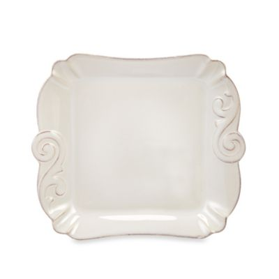 Arabesque White 10-Inch Small Square Tray