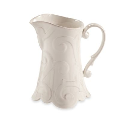 Arabesque White 1.5-Quart Pitcher
