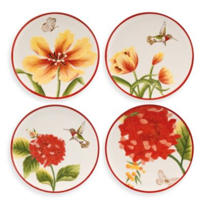 Fitz and Floyd® Flower Market Snack Plate (Set of 4)