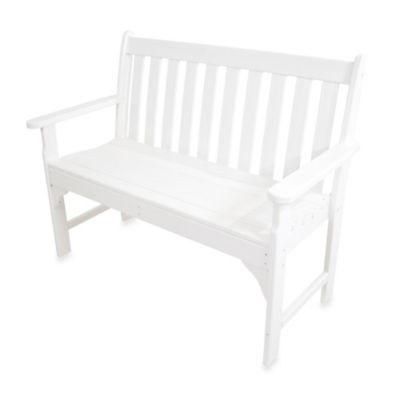 POLYWOOD® Vineyard Bench in White